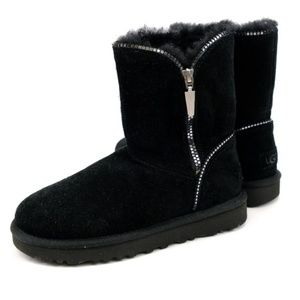 UGG Shoes - Black Zip Up Uggs